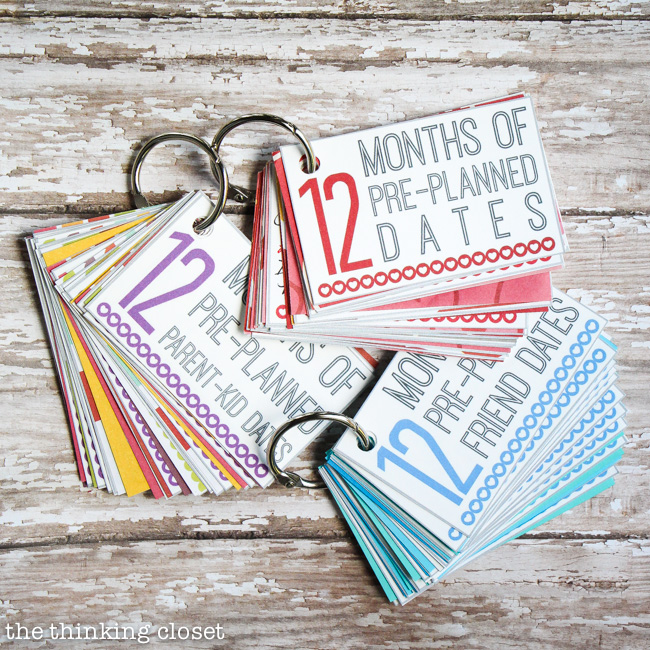 12 Months of Pre-Planned Dates Mini-Book: FREE Printable Pack | One of 30 Last-Minute DIY Gifts for Your Valentine! over at the thinking closet.