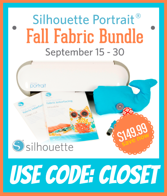 Silhouette Portrait Fall Fabric Bundle | Sept. 15 - 30  | Only $149.99 using the code CLOSET at checkout.  An incredible value!