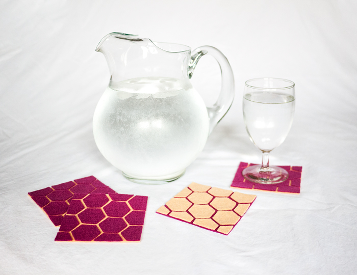 DIY Geometric Coasters by Ciera Design | One of a HUGE collection of DIY Drink Coasters over at thinkingcloset.com.  Such great gift ideas!