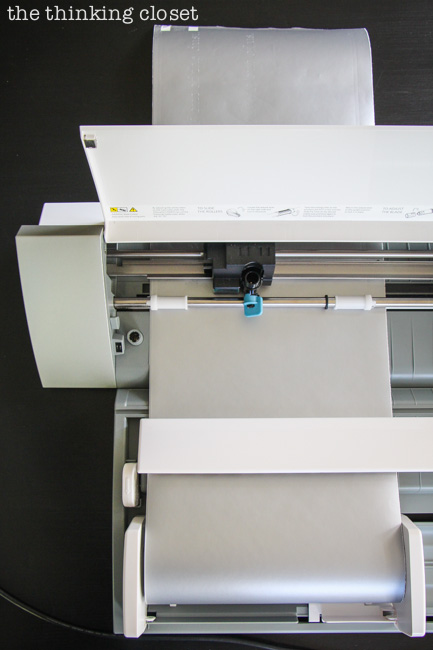 Roll-Feeder in action with my Silhouette Cameo...so fantastic to cutting longer designs.