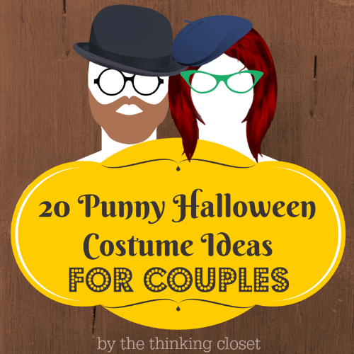 20 Punny Halloween Costume Ideas for Couples | An epically awesome round-up of literal interpretations of the word as portrayed by dynamic duos! There are some great last minute Halloween costume ideas in this mix, too. Prepare to win MOST CREATIVE COUPLE at your Halloween party this year!