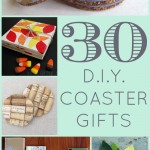 30 DIY Coaster Gifts | A round-up of coaster gift ideas galore, brought to you by thinkingcloset.com. A slew of inspiration for coasters made from tile, cork, leather, fabric, and unconventional materials.