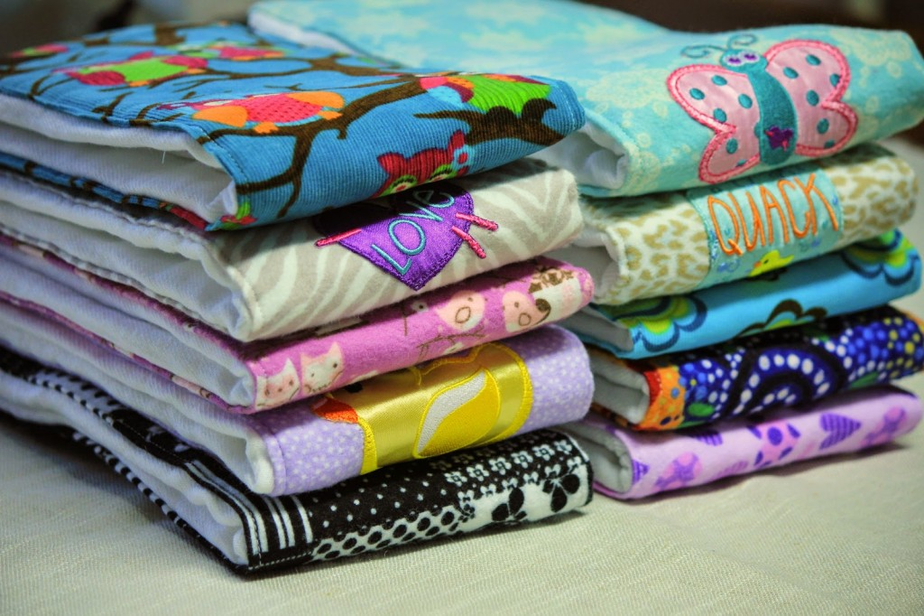 Burp Cloths by Blissful Living, Featured in The Thinking Closet's Summer 2014 Reader Showcase.