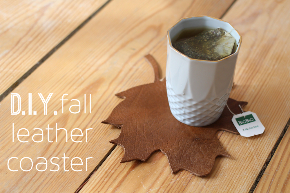 DIY Fall Leather Coasters by nähmarie | One of a HUGE collection of DIY Drink Coasters over at thinkingcloset.com.  Such great gift ideas!