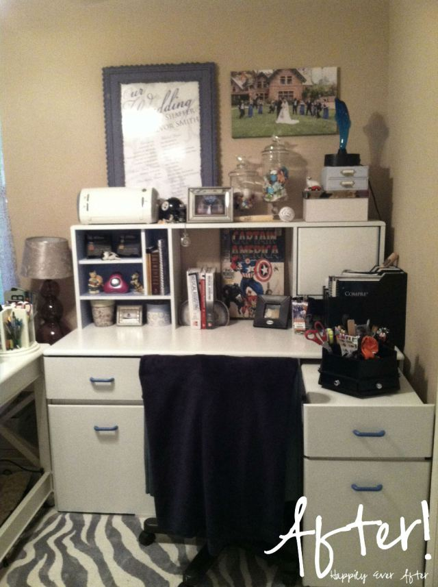 Desk Makeover by Happily Ever After etc., Featured in The Thinking Closet's Summer 2014 Reader Showcase.