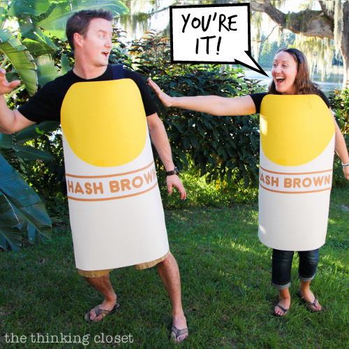 can you guess the pun in this punny halloween costume the knee slapper