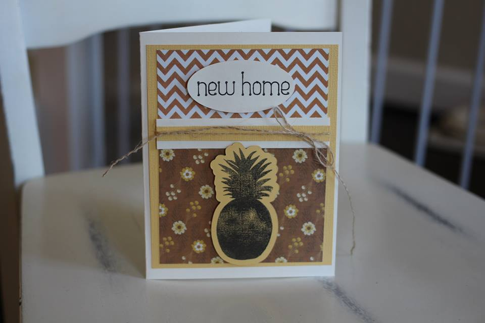 "Pineapple ""New Home"" Card by Elizabeth Peterson, Featured in The Thinking Closet's Summer 2014 Reader Showcase"