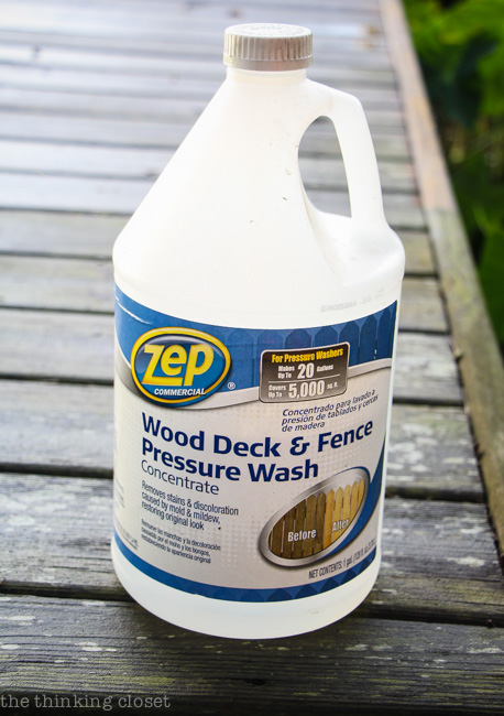 ZEP Wood Deck and Fence Pressure Wash from Home Depot