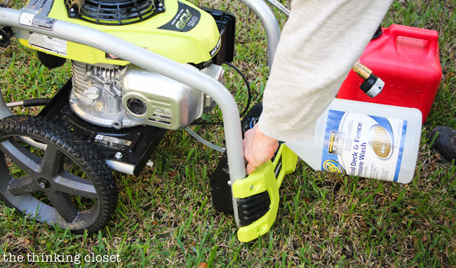 RYOBI's 3100 PSI Pressure Washer, Fall Cleaning, and Our Favorite Features!  via thinkingcloset.com