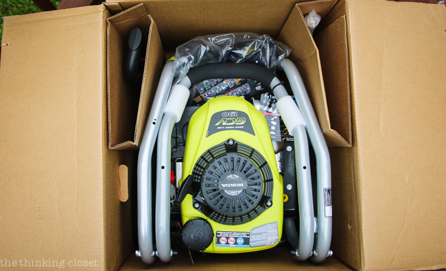 The Unboxing of our ROYBI 3100 PSI Pressure Washer - - a sight to behold.
