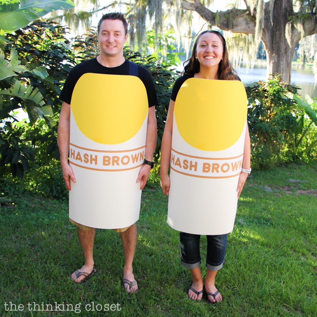 Can you guess the pun in this PUNNY Halloween costume? | The knee-slapper of an answer to this visual word-play and the full tutorial for how to create your own couples' Halloween costume over at thinkingcloset.com! It's so much pun!
