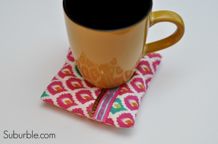 Scented Hot Pad Coasters by Suburble | One of a HUGE collection of DIY Drink Coasters over at thinkingcloset.com.  Such great gift ideas!