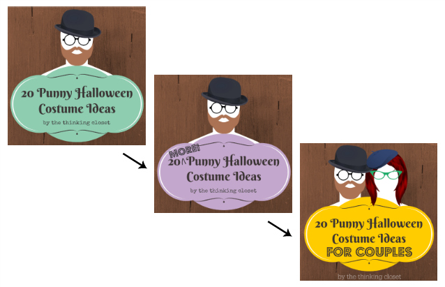 80 Punny Halloween Costume Ideas Rounded-Up for your Visual Irony pleasure over at thinkingcloset.com. It's a veritable knee-slapper fest over there! Get thee to the punnery!