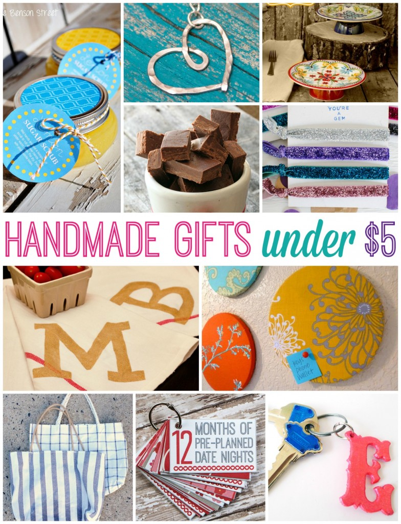 Handmade Gifts for Under $5 by Happy Go Lucky