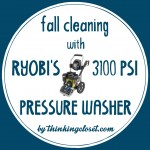 Fall Cleaning with RYOBI's 3100 PSI Pressure Washer