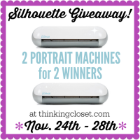 Silhouette Portrait Giveaway for 2 Winners!