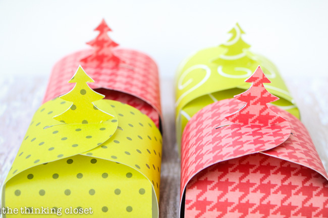Christmas Tree Gift Boxes FREE Printable the thinking closet – Paper Gift Boxes Templates