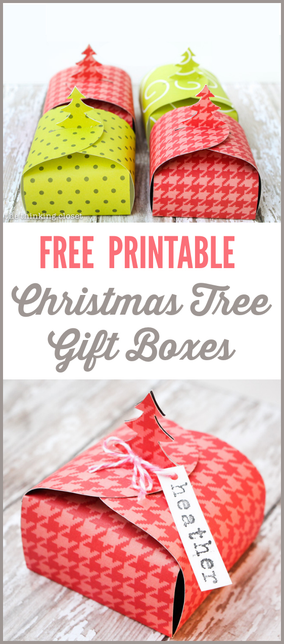Christmas Tree Gift Boxes: FREE Printable