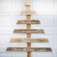 DIY Rustic Pallet Christmas Tree & Silhouette Giveaway!