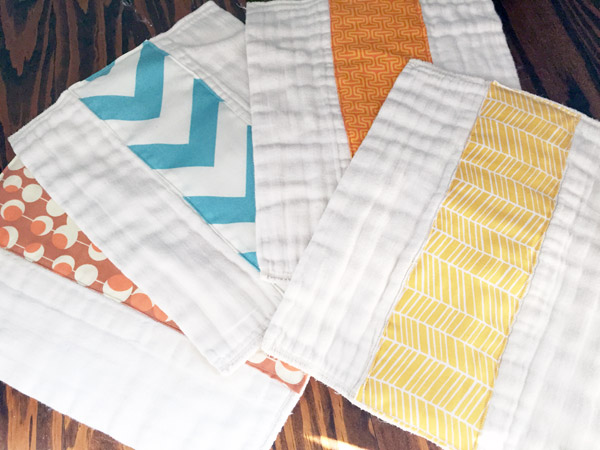 Burp Cloths by Preparing for Peanut, Featured in The Thinking Closet's Fall 2014 Reader Showcase.