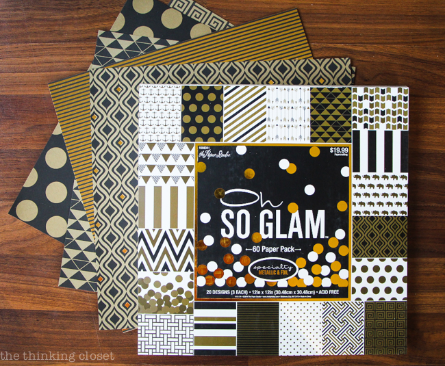DIY Cash Budget Envelopes: Free Printable | The beautiful scrapbook paper that inspired it all!