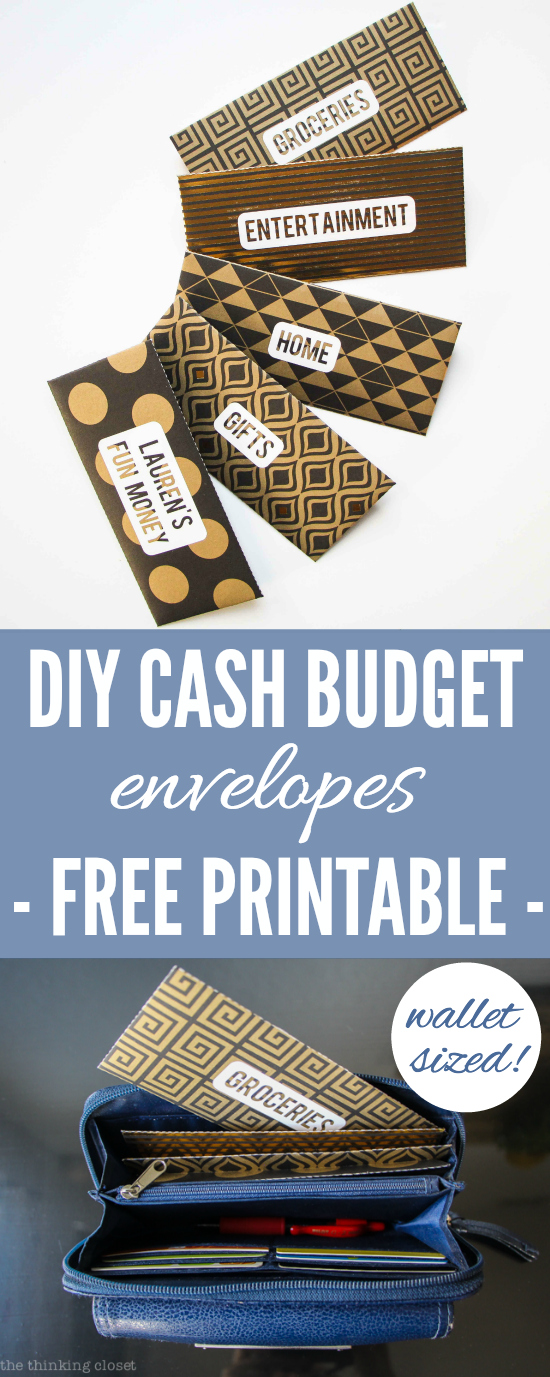 DIY Cash Budget Envelopes  Free Printable   Learn how to create your own  wallet. DIY Cash Budget Envelopes  Free Printable   the thinking closet