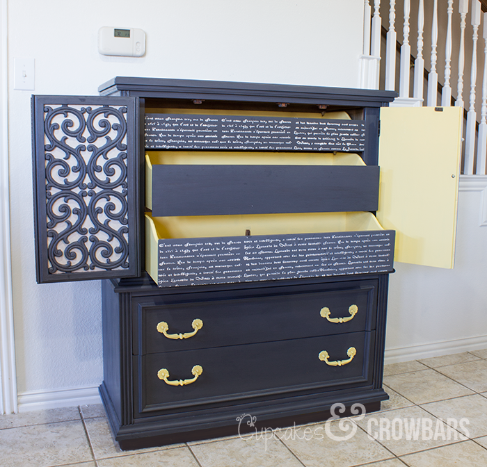 Fun Furniture Update by Cupcakes & Crowbars, Featured in The Thinking Closet's Fall 2014 Reader Showcase.