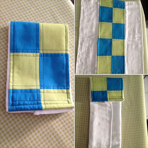 Patchwork Pattern Burp Cloth by Guita's Stuff, Featured in The Thinking Closet's Fall 2014 Reader Showcase.