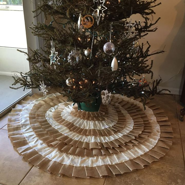 Ruffle Christmas Tree Skirt by Elizabeth S.,  Featured in The Thinking Closet's Fall 2014 Reader Showcase.