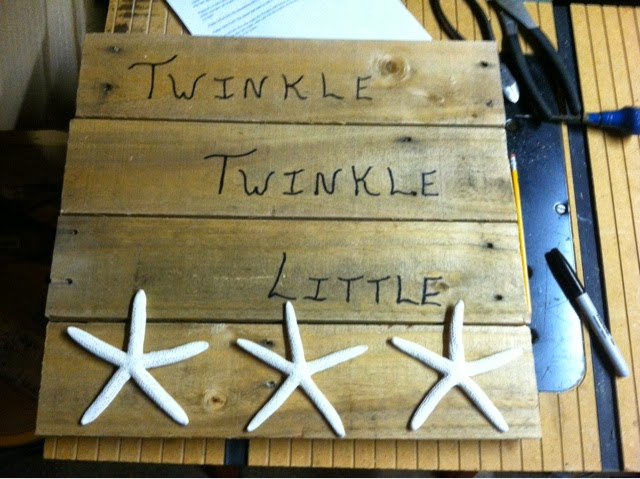 Twinkle Twinkle Little Star Pallet Sign by Henry Will 4, Featured in The Thinking Closet's Fall 2014 Reader Showcase.