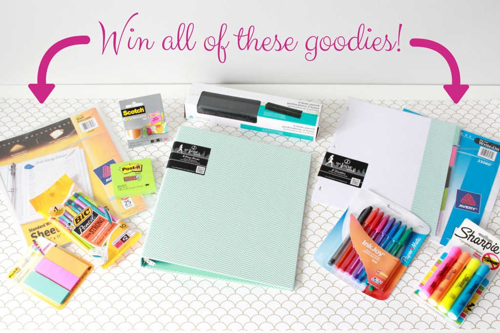 Win all of these goodies! Our Home Binder Giveaway featuring Simplify: 25 Printables to Help You Organize Your Life   JustAGirlAndHerBlog.com/organize