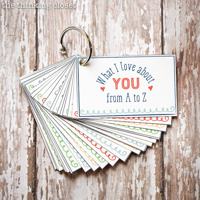 what i love about you from a to z mini book creative
