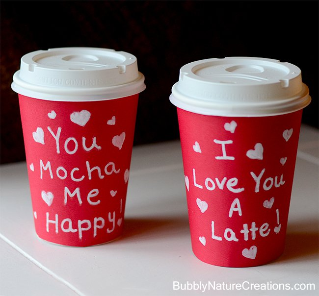 Valentine's Day Coffee Sleeves | One of 30 Last-Minute DIY Gifts for Your Valentine over at the thinking closet!