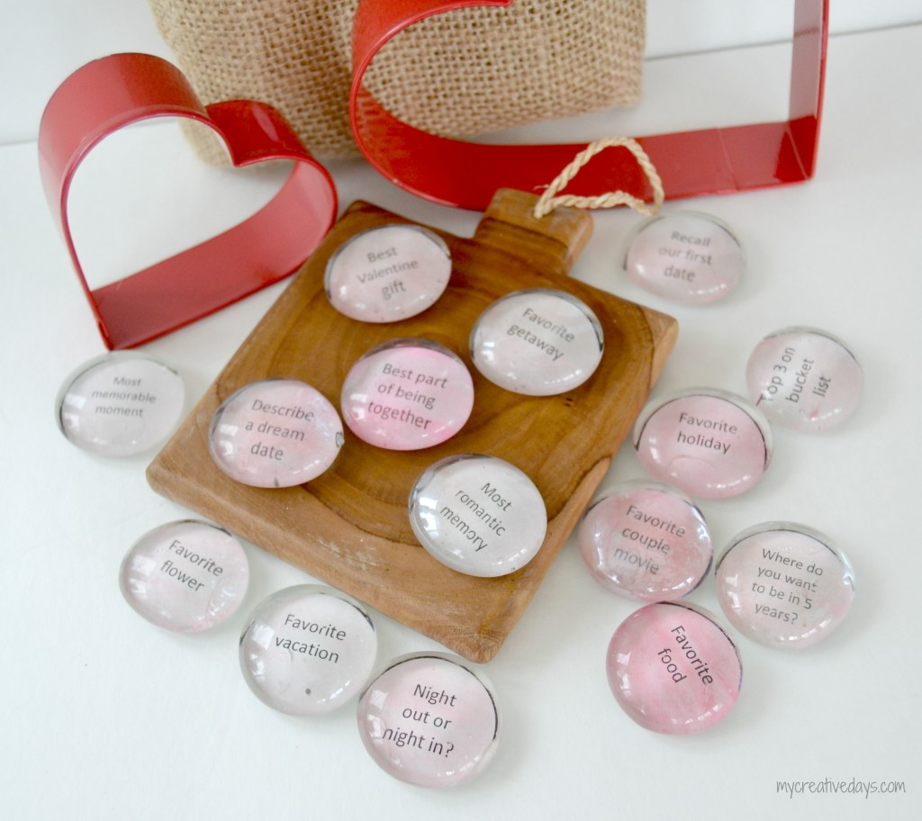 Conversation Starter Stones | One of 30 Last-Minute DIY Gifts for Your Valentine over at the thinking closet!
