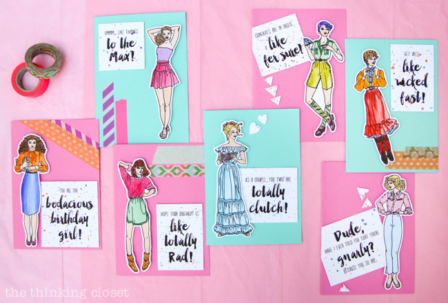 1980s fashion plate greeting cards free printable the thinking closet fashion plate greeting cards a fun retro inspired craft project for anyone who grew m4hsunfo