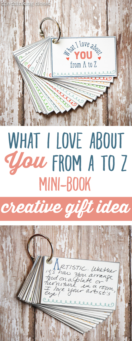 what I love about you from A to Z mini-book