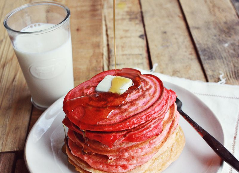 Ombre Ricotta Pancakes | One of 30 Last-Minute DIY Gifts for Your Valentine over at the thinking closet!