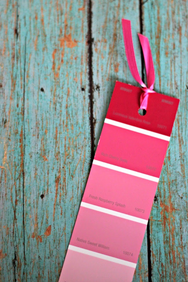 Paint Chip Bookmark | One of 30 Last-Minute DIY Gifts for Your Valentine over at the thinking closet!