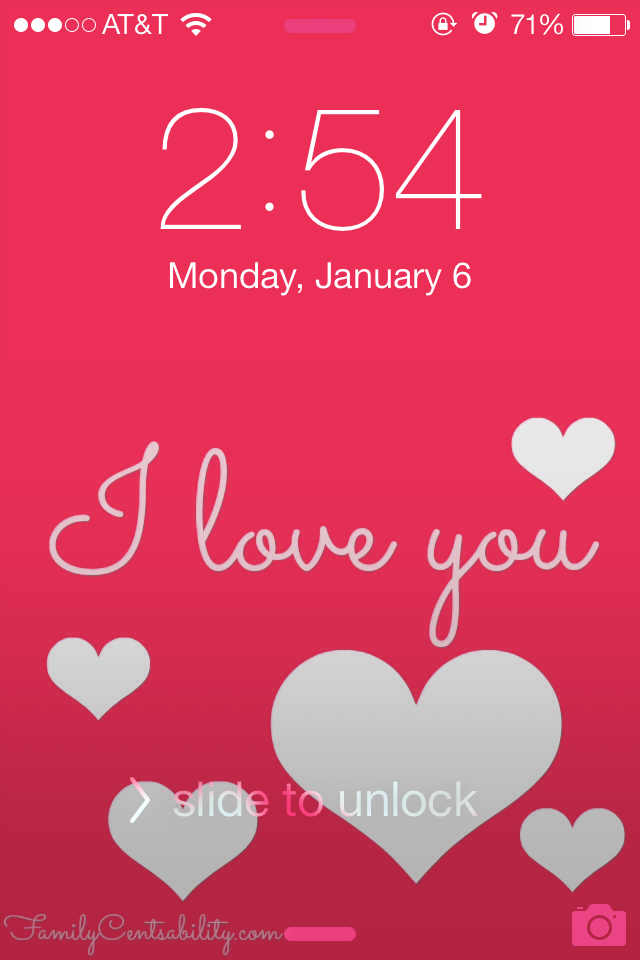 Valentine's Day Cell Phone Wallpapers | One of 30 Last-Minute DIY Gifts for Your Valentine over at the thinking closet!