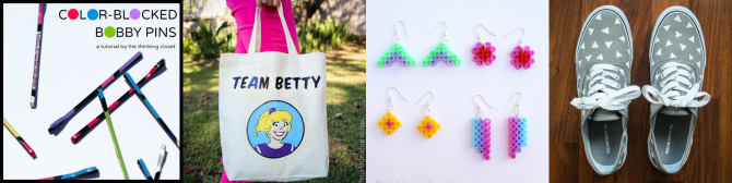 More 1980s inspired craft projects from The Thinking Closet!