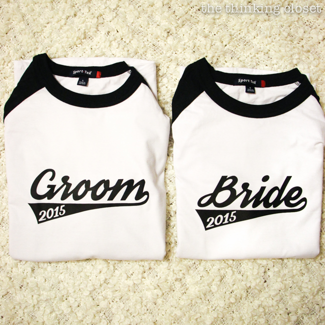 Bride & Groom Baseball T-Shirts: Creative Couples\' Gift Idea — the ...