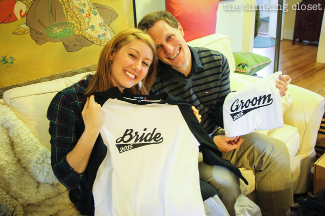 Bride & Groom Baseball T-Shirts with Free Cut File | Creative engagement or wedding gift idea...as two become one team! Silhouette tutorial includes FREE cut file.