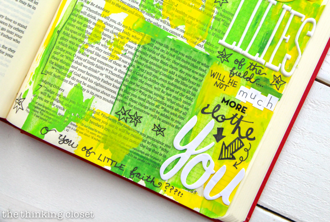 Welcome to My Journaling Bible: heART in the margins | Here's a closer look at my first pages! Check out the full post for the inside scoop Q & A style about this new movement sweeping the margins of Bibles everywhere...and how you can use art to engage with scripture in a new and exciting way!