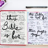 Permission Pages: A Perfectionist's Approach to the Journaling Bible
