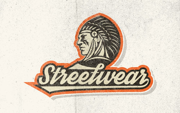 Streetwear Font: Great for retro athletic wear...like Bride & Groom Baseball T-Shirts
