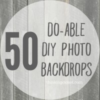 50 Do-Able DIY Photo Backdrops