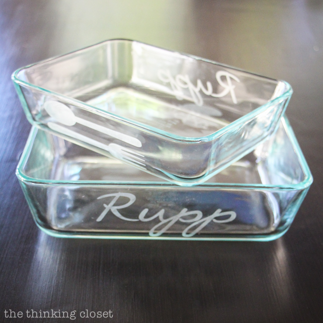 Glass Etched Casserole Dishes: Personalized Wedding Gift Idea - - Plus Your Questions Answered about The Art of Glass Etched Bakeware!