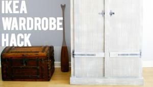 IKEA Hack: Fjell Wardrobe with Pallet Shelves