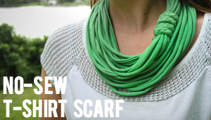 No-Sew T-Shirt Yarn Infinity Scarf: Video Tutorial