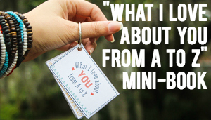 What I Love About You From A to Z Mini-Book Gift